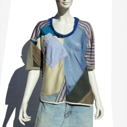 T-shirt in patchwork with...