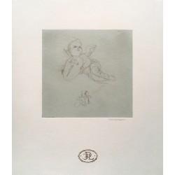 Dibujo Ángel con escudo