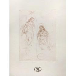 Dibujo Virgen y Arcángel