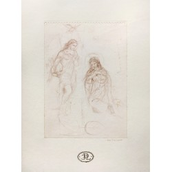 Drawing of the Virgin with...