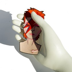 David Bowie heat adhesive...