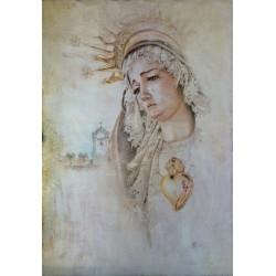 Dibujo Virgen de La Soledad