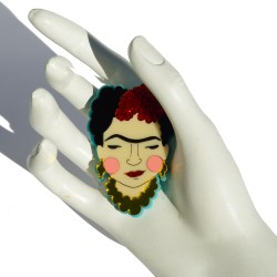 Broche en plexiglass Frida