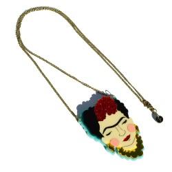 Frida plexiglass necklace