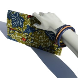 Clutch made in Pagne fabric