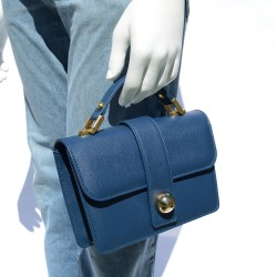 Classic Blue Leather Bag