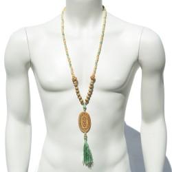 Kokoro bone and mint Necklace